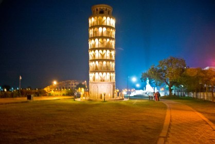Leaning Tower of Pisa at Seven wonder Park kota