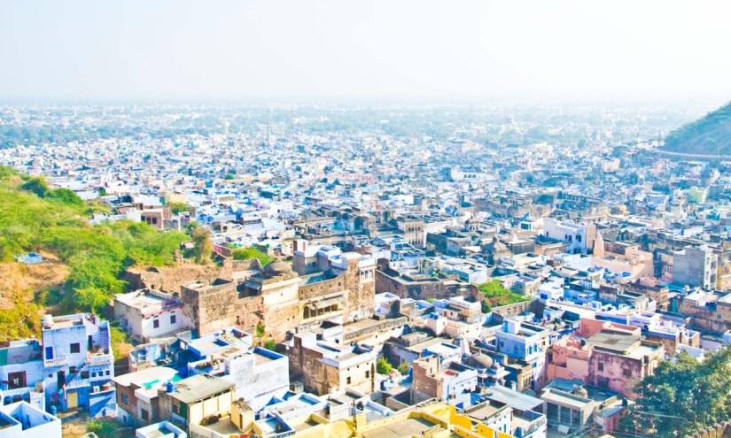 View from Garh palace bundi rajasthan