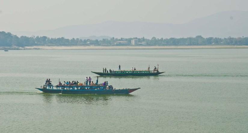 Boats in Bhramaputra Guwahati