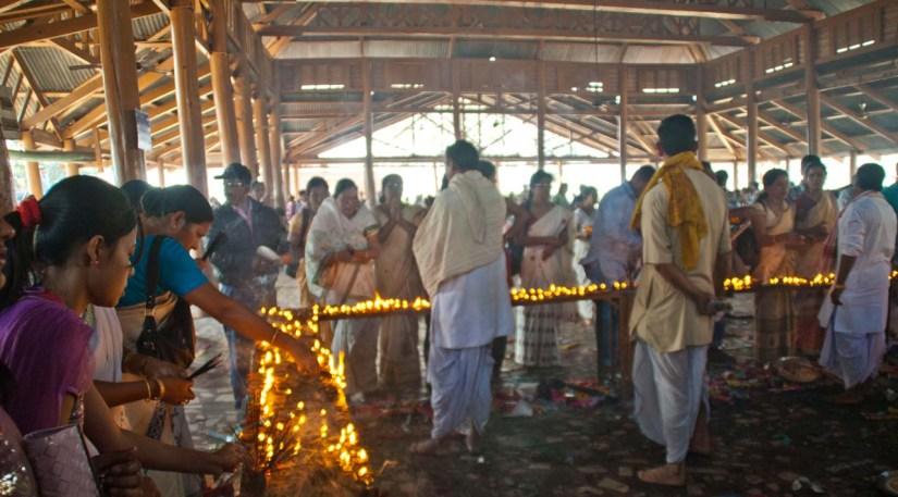 Hayagriva Madhava Temple diyas Hajo