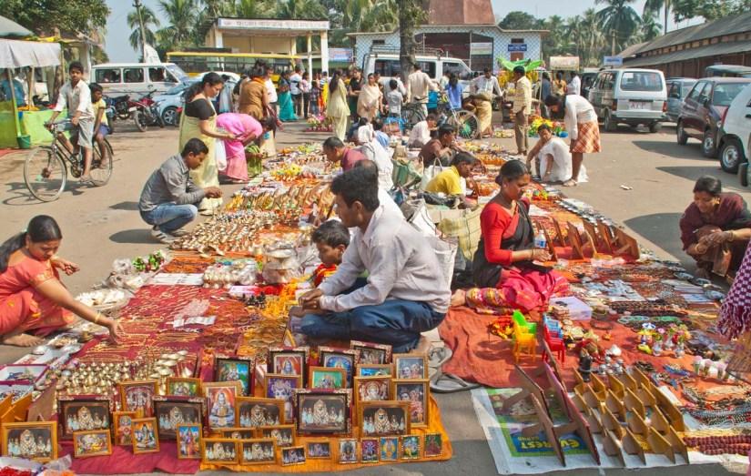 Market outside Hayagriva Madhava Temple Hajo