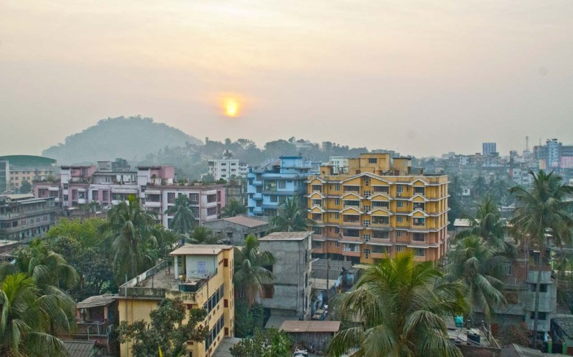 Overview of Guwahati city