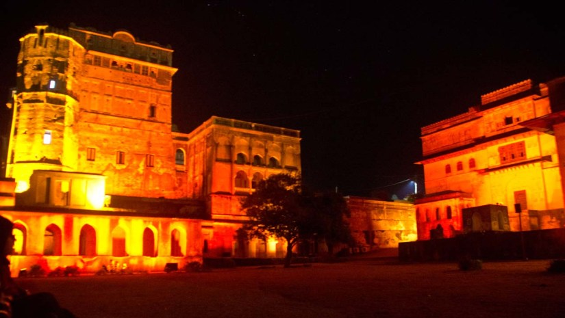 Orchha Fort Light and sound show