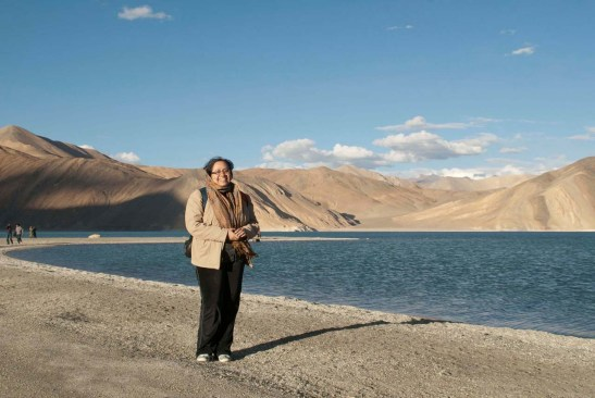 I at Pangong Lake Ladakh