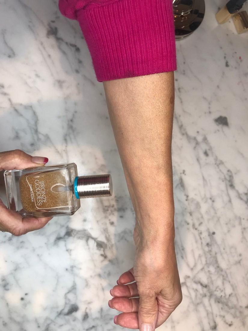BG perfumed oil shimmer spray after