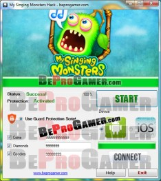 Fake hack tool for My Singing Monsters