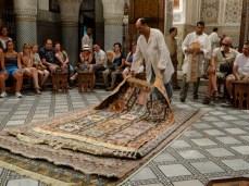 Fes - vendedor de alfombras