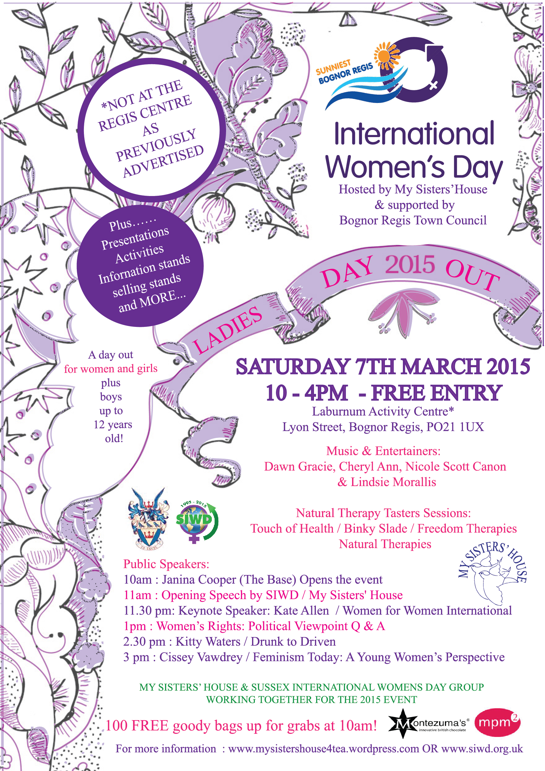 Share Our Women S Day Event Bognor Regis Uk My Sisters
