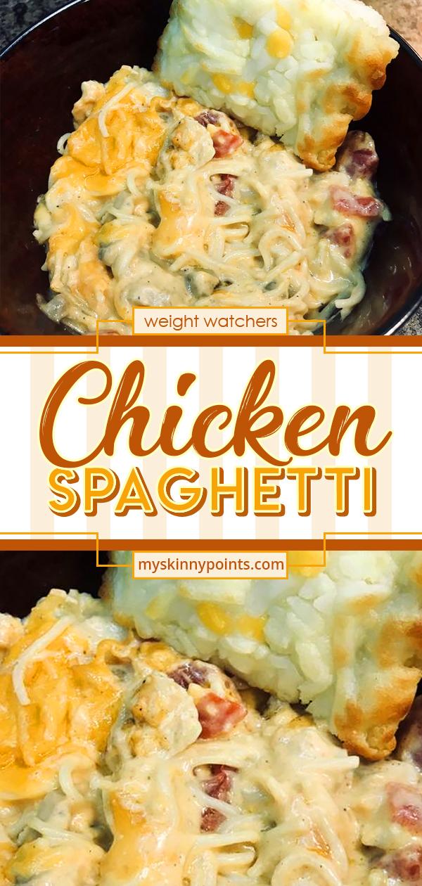 Easy Cheesy Chicken Spaghetti