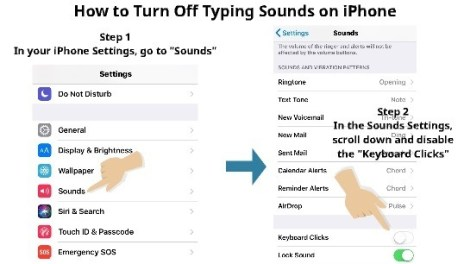 how to turn off typing sounds on iPhone 3