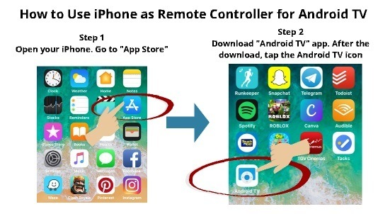 How to Use iPhone as Android TV remote 1