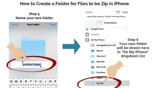 How to Create Folder for Files in iPhone 3