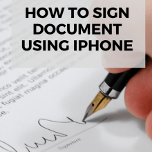 How to Sign Document Using iPhone