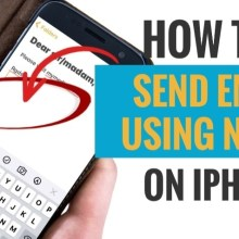 How to Send Email Using Notes on iPhone