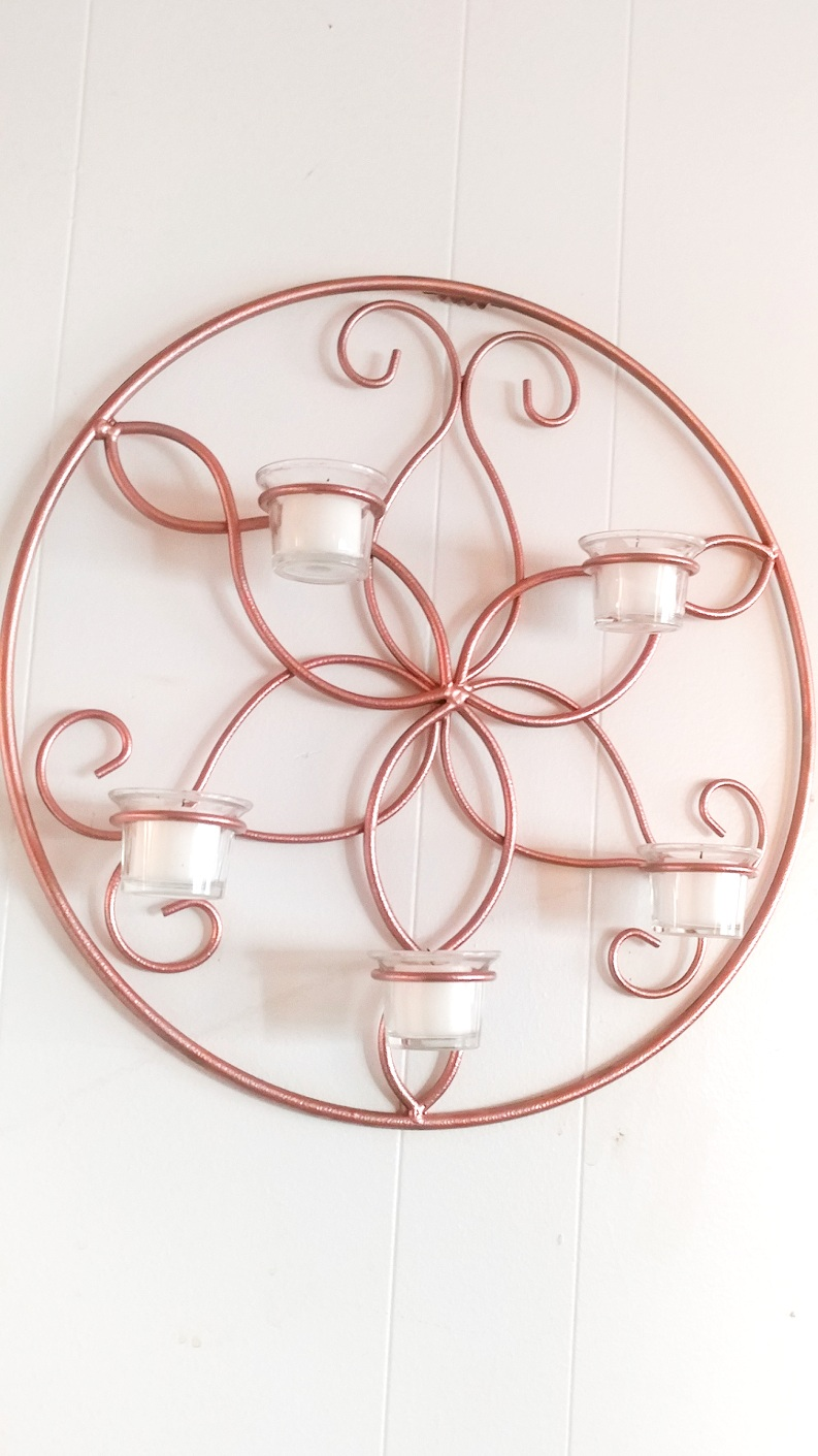 Candle Wall Sconce Makeover – DIY