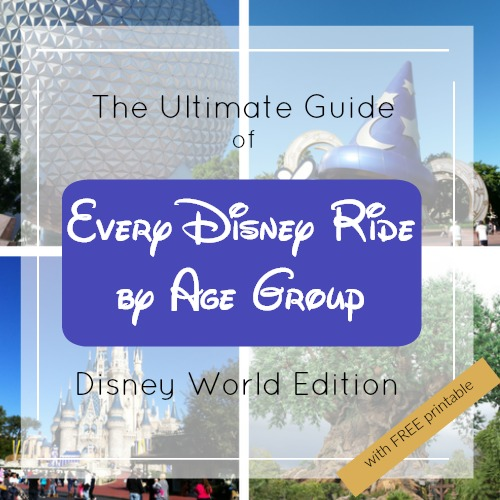 The Best Rides at EVERY Disney World Park for Every Age Group - with FREE Printable