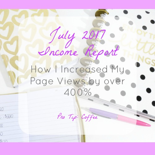 July 2017 Income Report – Month 2