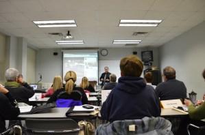 Martin Brossman teaching at the Central Carolina Community College, Pittsboro Campus.