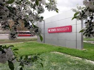 NCSU McKimmon Center at the Gateway to Centennial Campus, in April.