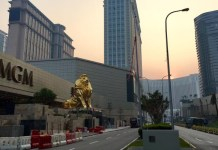 Macau casino workers stage demonstrations
