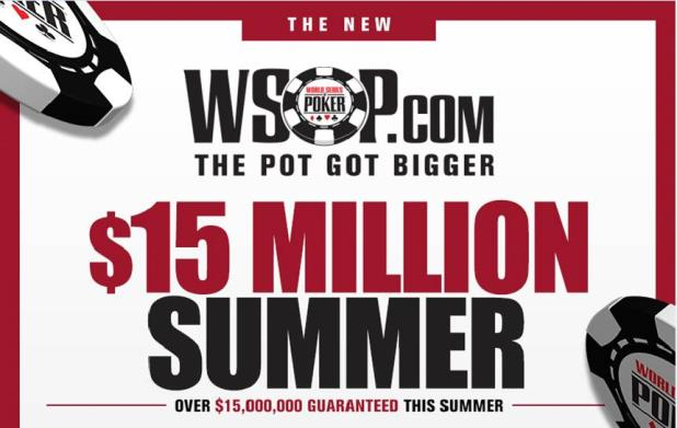 WSOP.com Guarantees $15M in Summer Prize Money for Interstate Online Poker Events
