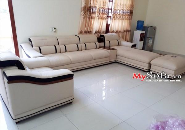 Sofa da cao cấp, sang trọng AmiA SFD124