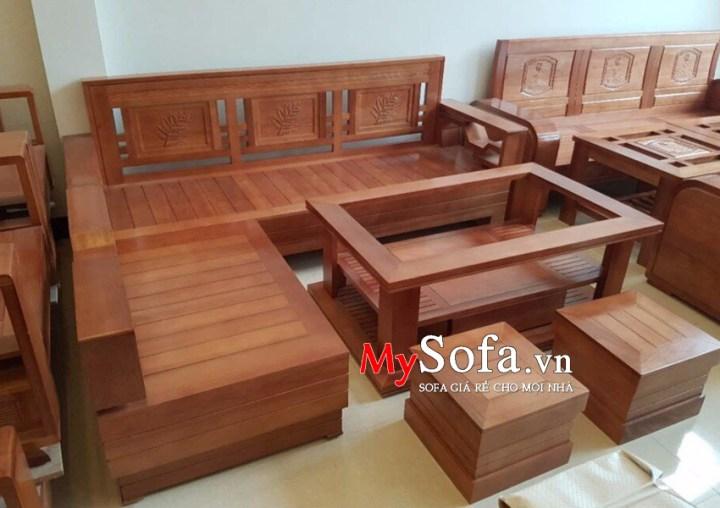Mẫu ghế Sofa gỗ cho phòng khách AmiA SFG019 | mySofa.vn
