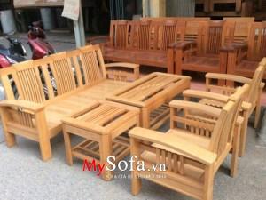 Bộ ghế Sofa gỗ sang trọng AmiA SFG021 | mySofa.vn