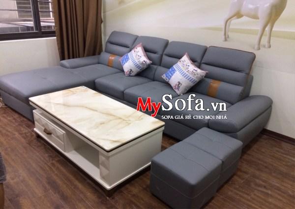 Bộ ghế Sofa góc chất liệu da cao cấp AmiA SFD153