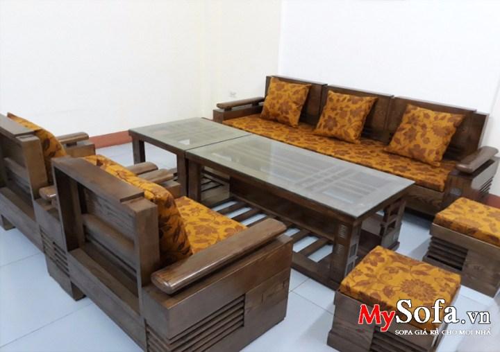 Bộ Sofa Gỗ đẹp Va Sang Trọng Amia Sfg018 Mysofa Vn