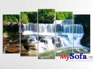 Bức tranh phong cảnh thiên nhiên thác nước AmiA 154