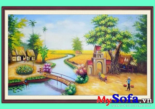 Tranh sơn dầu phong cảnh quê hương AmiA 150 | mySofa.vn