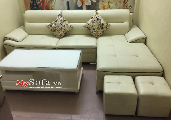 Bộ ghế Sofa da đẹp, trẻ trung, hiện đại AmiA SFD141