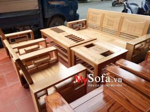 Bộ ghế Sofa gỗ cho phòng khách AmiA SFG020