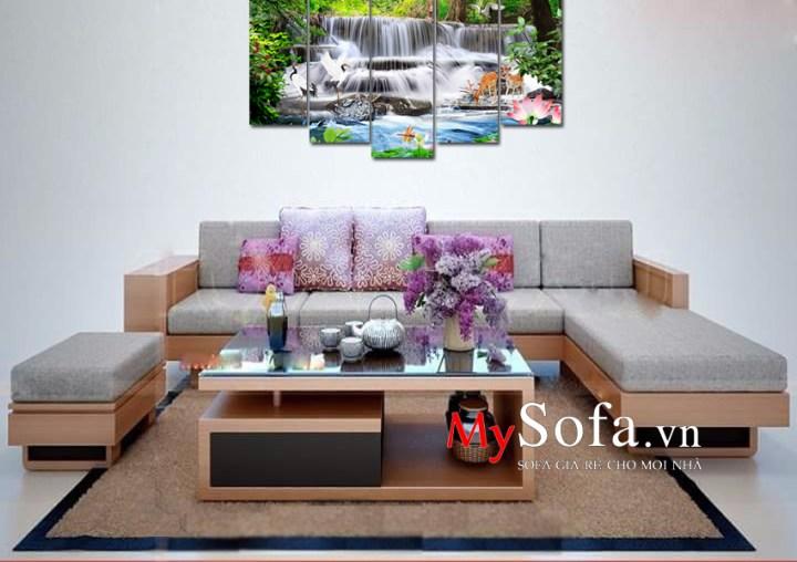 Bộ ghế Sofa gỗ sồi dạng góc AmiA SFG2405 sang trọng