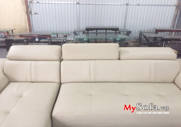 AmiA SFD160 - Mẫu Sofa da đẹp kê phòng khách sang trọng