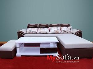 Mẫu ghế Sofa nỉ dạng góc đẹp AmiA SFN013 | mySofa.vn