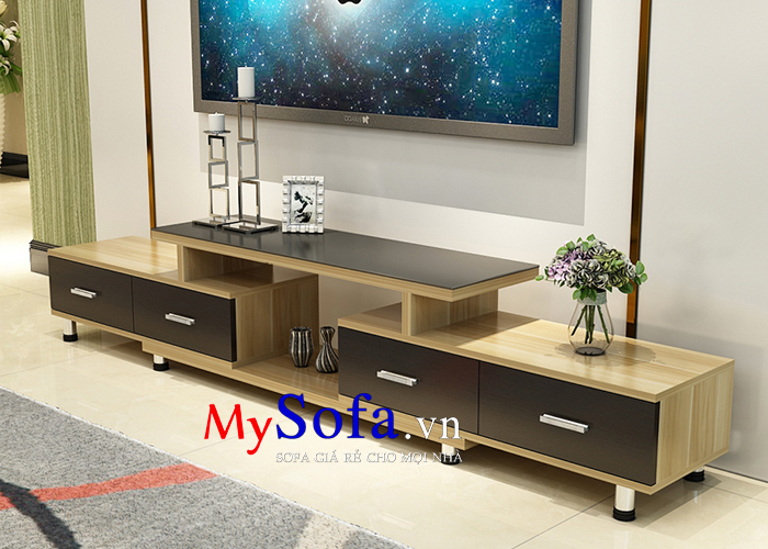 Hình ảnh kệ tivi gỗ đẹp giá rẻ AmiA KTV235