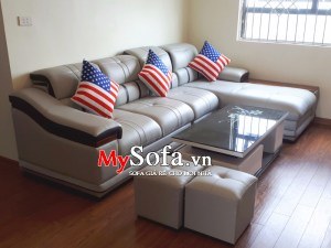 Mẫu ghế Sofa da cao cấp, sang trọng AmiA SFD179