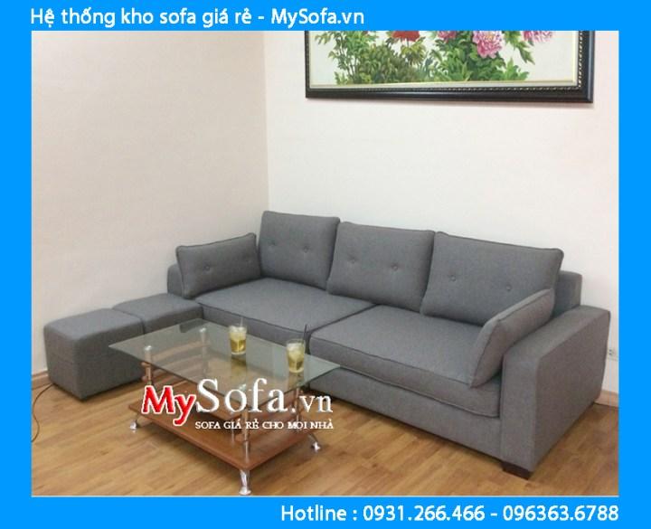 Sofa nỉ dạng góc kê phòng khách chung cư