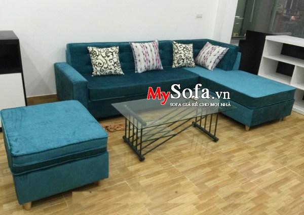 Mẫu Sofa nỉ dạng góc cho phòng khách AmiA SFN090