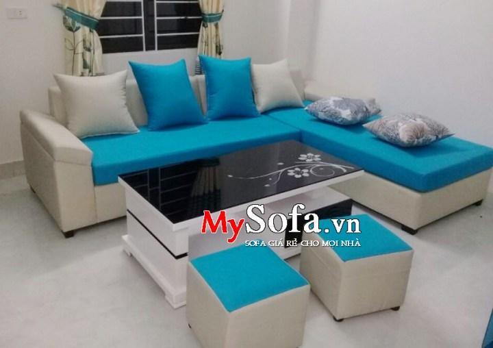 Mẫu Sofa nỉ phòng khách hiện đại AmiA SFN015 | mySofa.vn