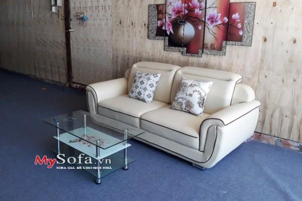 mẫu sofa văng da kích thước nhỏ cho phòng khách AmiA SFD150