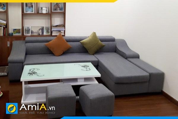 sofa chat lieu vai ni ke phong khach amia sfn098