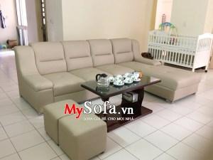 Bộ Sofa da đẹp góc chữ L AmiA SFD108