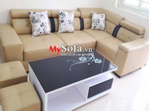 Mẫu Sofa da góc bộ AmiA SFD041