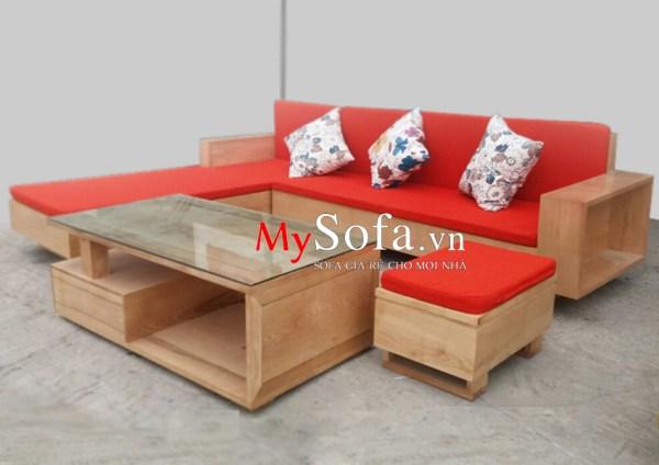 Hình ảnh ghế Sofa gỗ sồi AmiA SFG2405 tại kho MySofa.vn