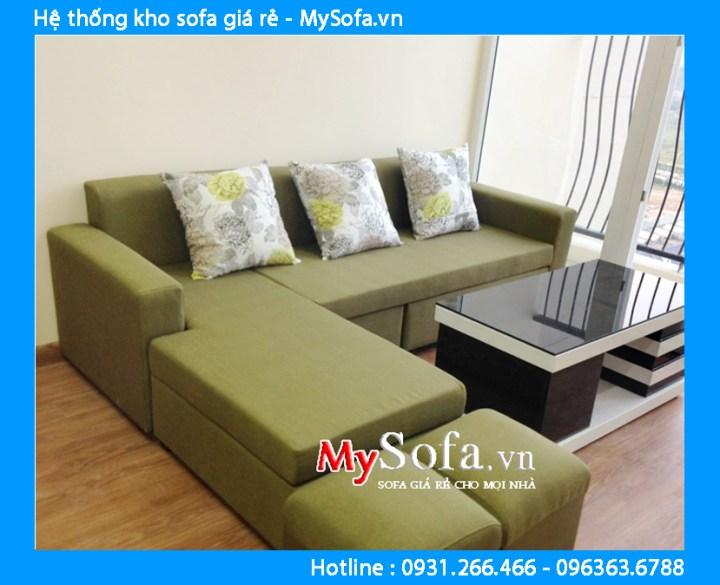 Sofa nỉ đẹp giá rẻ kê chung cư hiện đại
