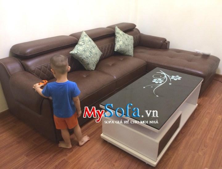 Sofa phòng khách đẹp dạng góc chữ L