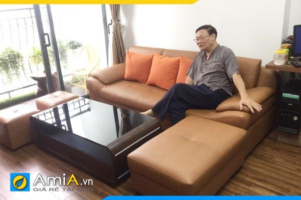 Mẫu ghế sofa dạng văng cho phòng khách nhỏ